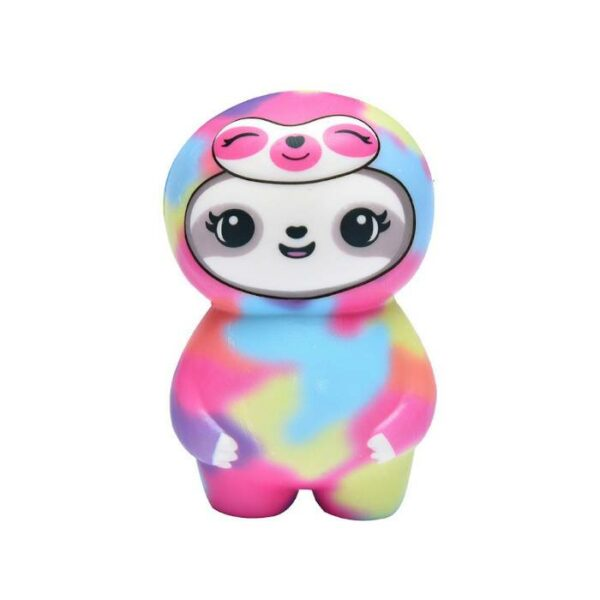 squishy paresseux multicolore