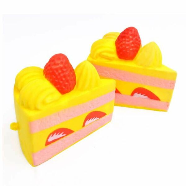 squishy part de gateau jaune