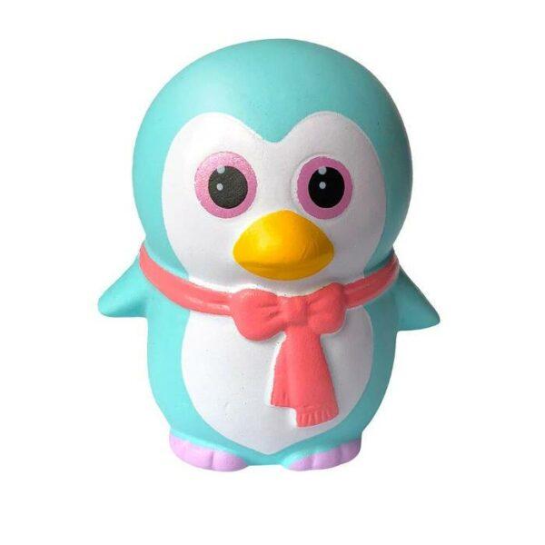 squishy pingouin kawaii bleu