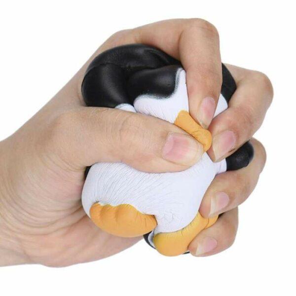 squishy pingouin rond écrasé