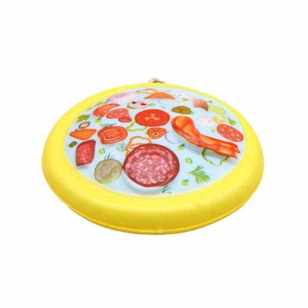 squishy pizza kawaii jaune