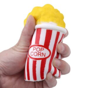 squishy popcorn rouge écrasé