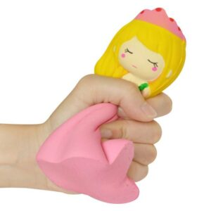 squishy princesse kawaii rose écrasé