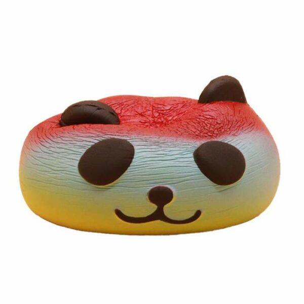 squishy tete de panda multicolore compressé