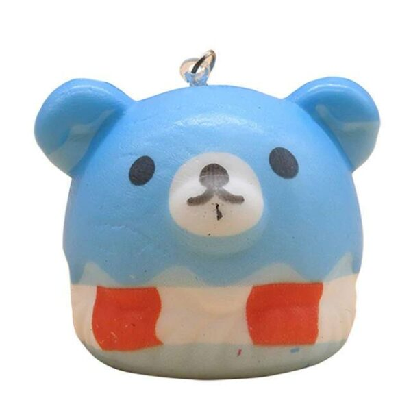 squishy tete ours bleu