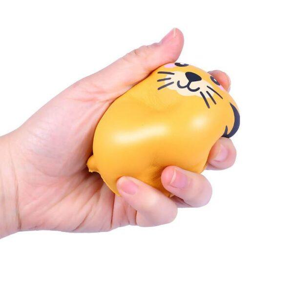 squishy tigre kawaii écrasé