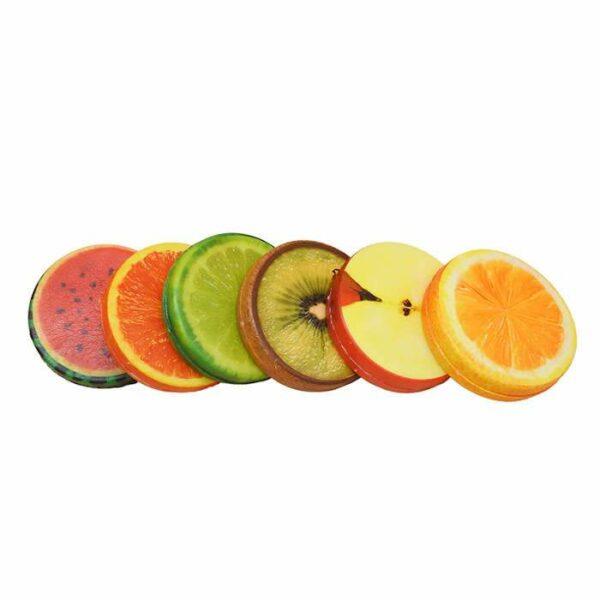 squishy tranche de fruit vu du dessus