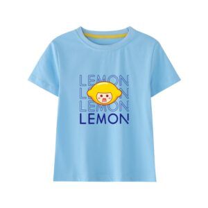 t-shirt kawaii lemon bleu
