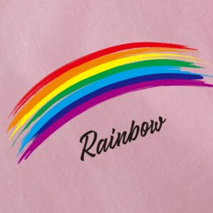 t shit kawaii rainbow motif