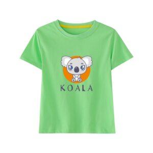 t-shirt kawaii koala vert