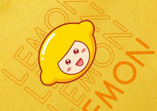 t-shirt kawaii lemon motif